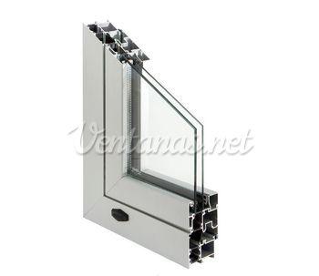 Ventana p gris for Ventanas aluminio gris antracita