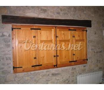 Contraventanas for Porticones madera exteriores